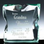 Memorial Glass Block, personalised ref MGB1